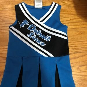 DETROIT LIONS TODDLER CHEERLEADING DRESS  *